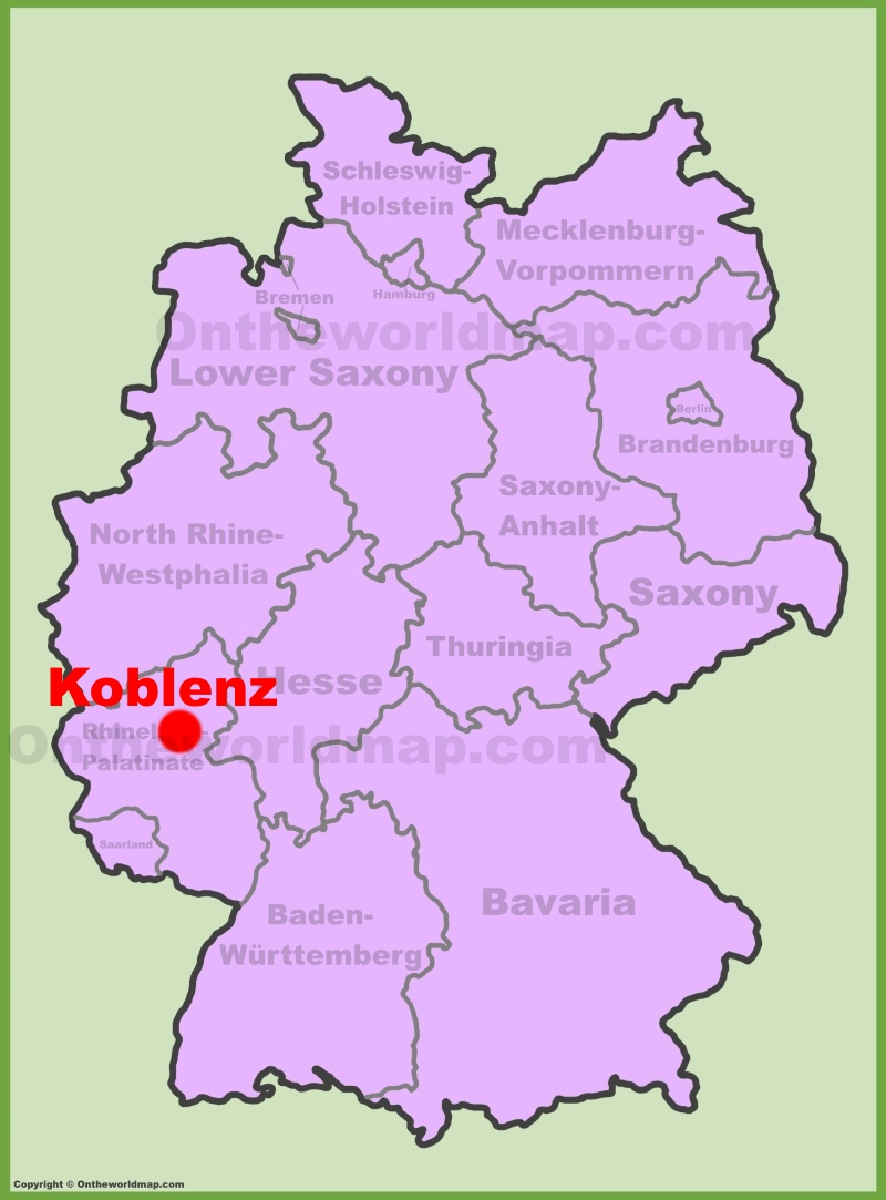 Koblenz location on the Germany map