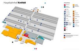 Krefeld Hauptbahnhof Map
