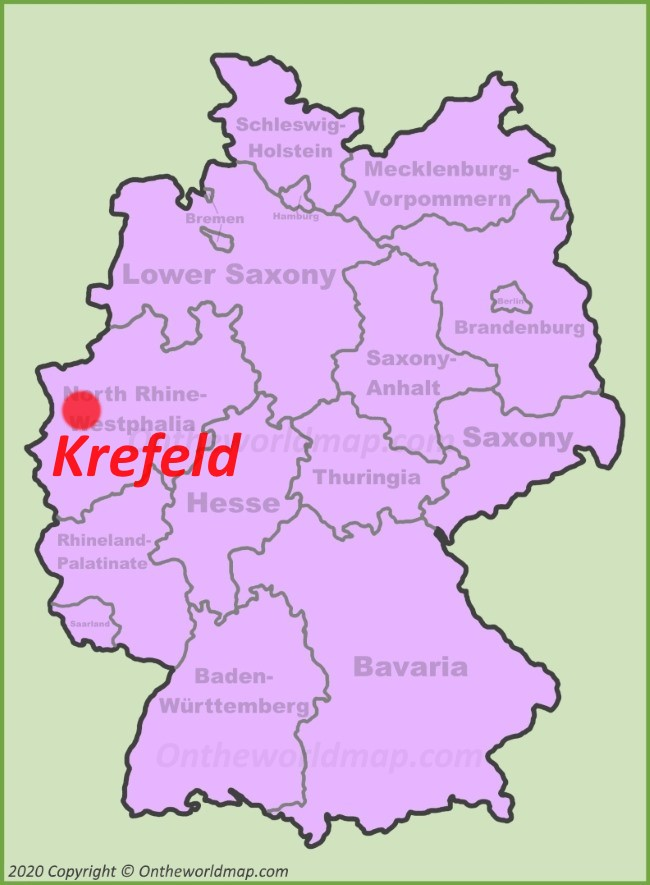Krefeld location on the Germany map