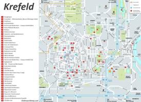 Krefeld Tourist Map