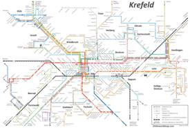 Krefeld Transport Map