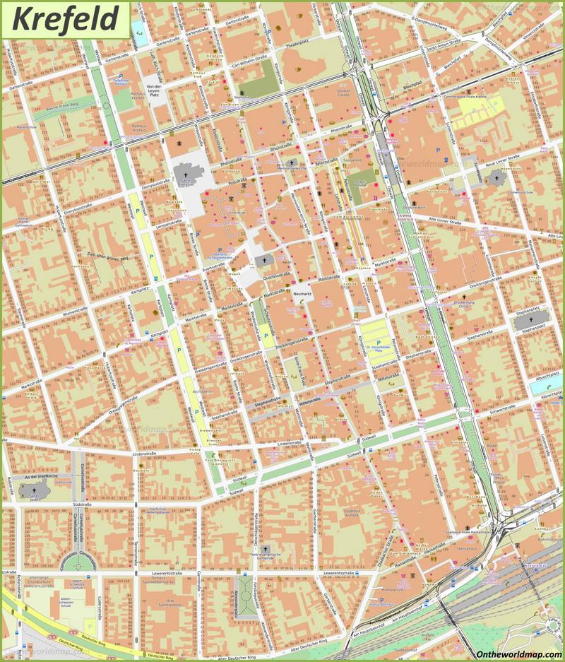 Map of Krefeld
