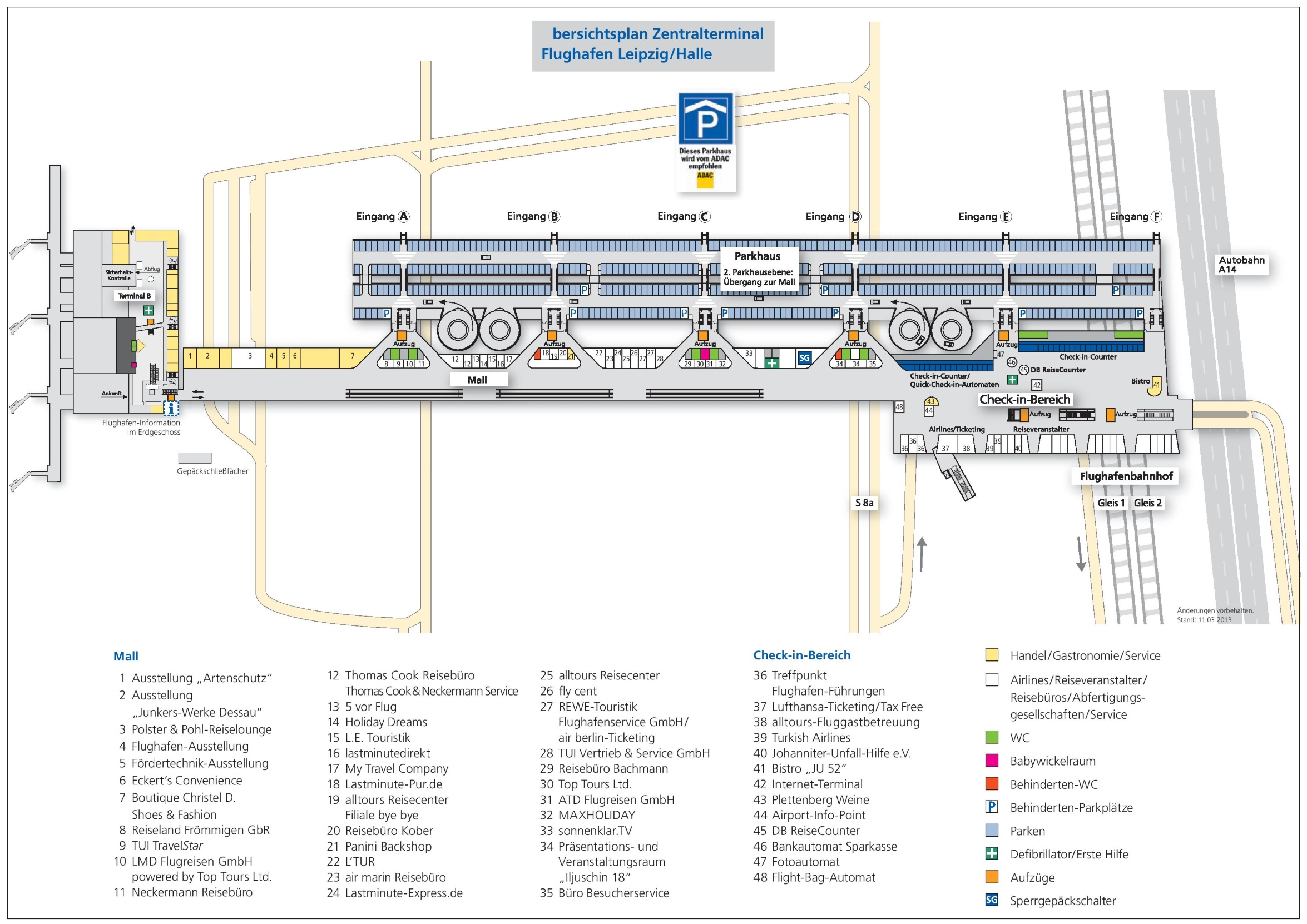 LeipzigHalle Airport map
