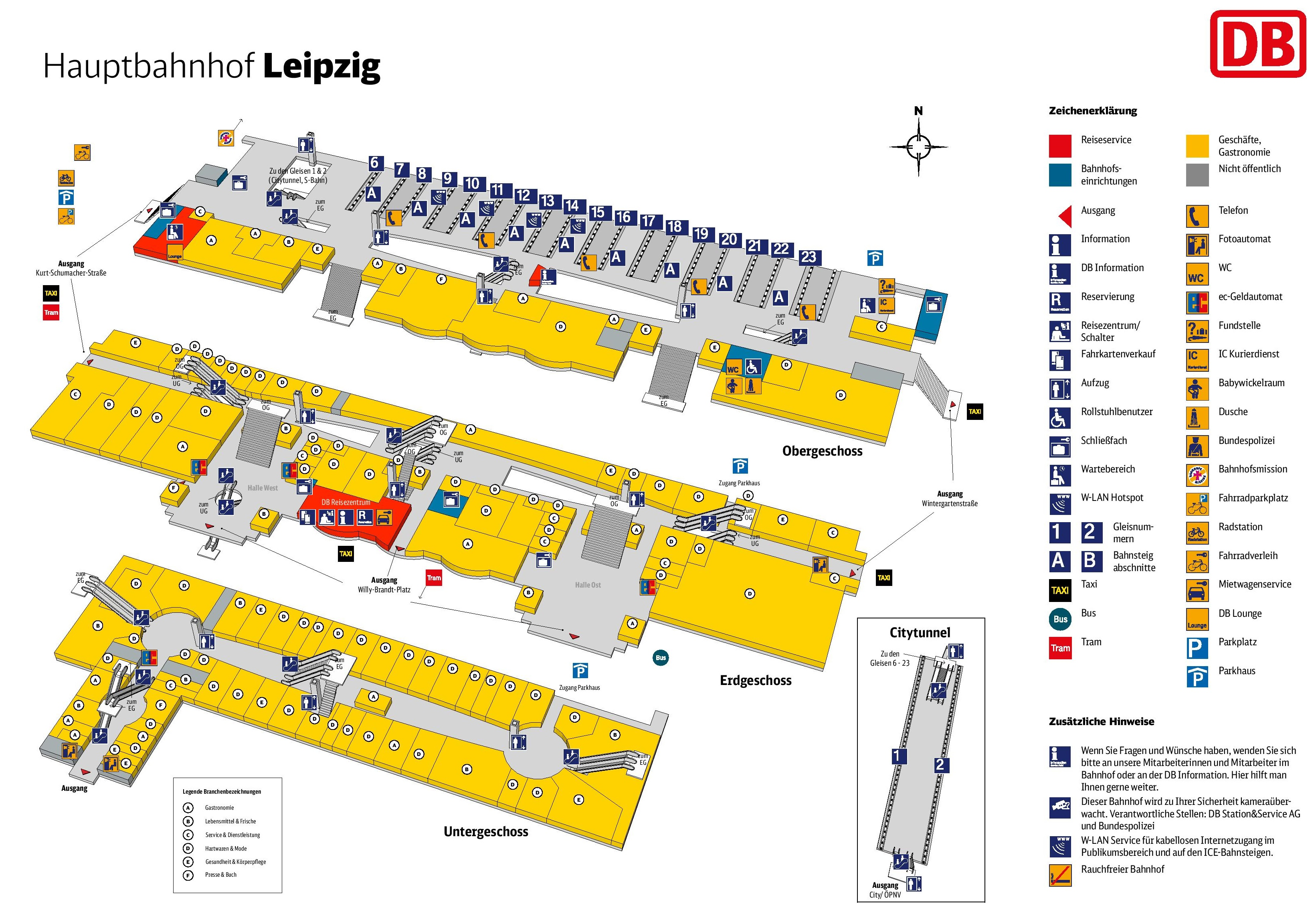 Leipzig hauptbahnhof map central train station
