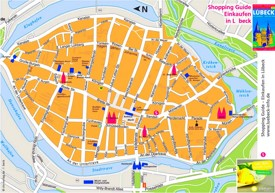 Lübeck city center map