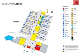 Lübeck hauptbahnhof map