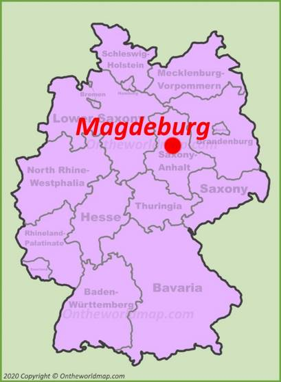 Magdeburg Location Map
