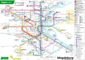Magdeburg Tram and Bus Map