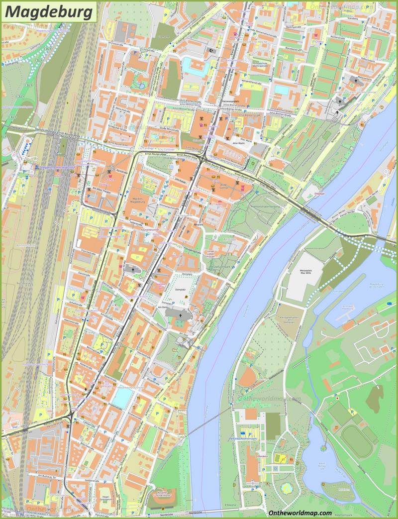 Map of Magdeburg