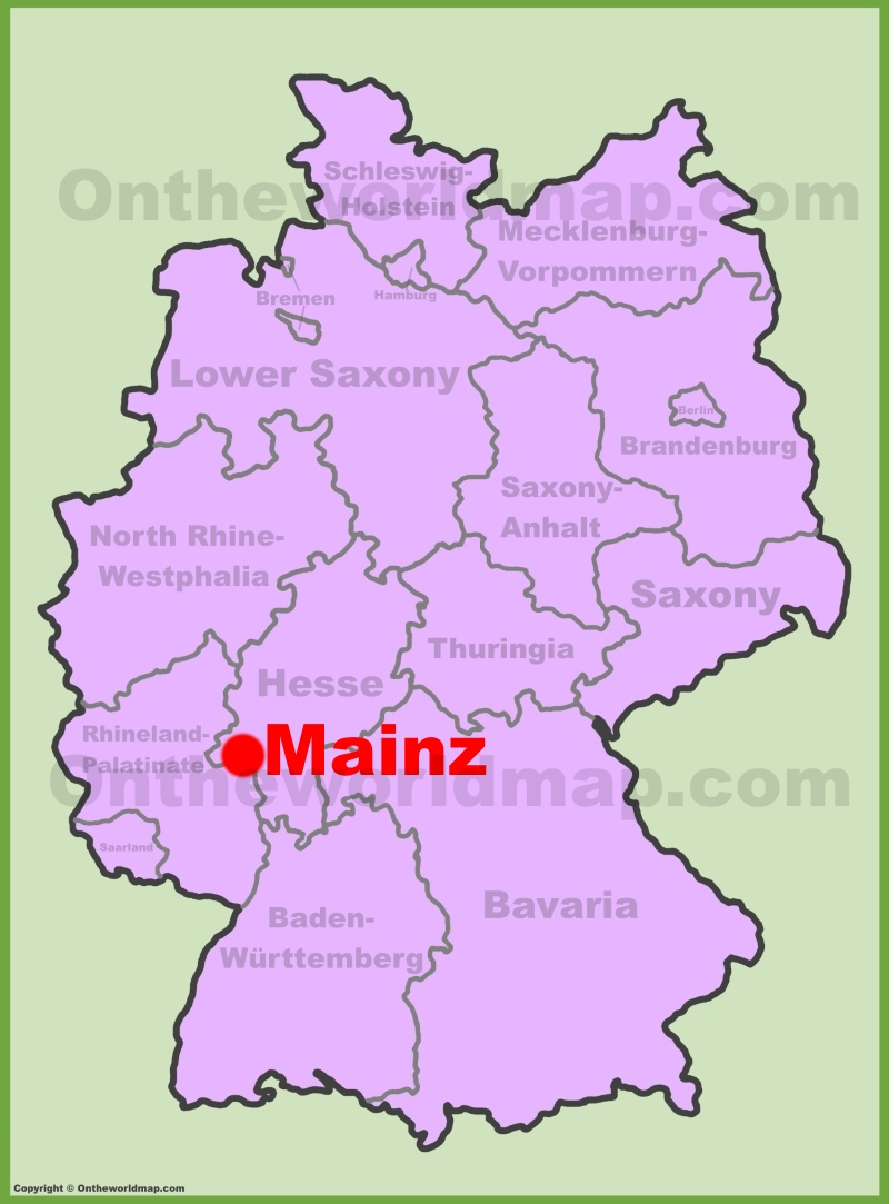 Mainz location on the Germany map