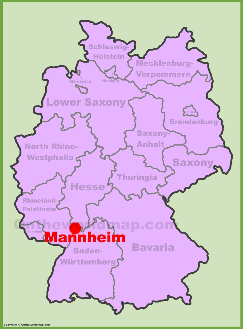 Mannheim location on the Germany map