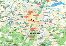 Map of Munich and Surroundings