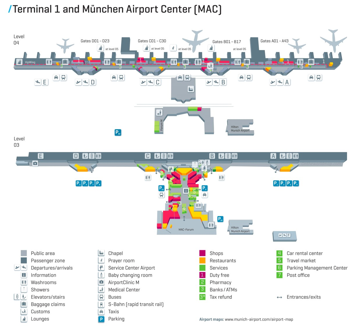map of munich airport terminal 2 Munich Airport Map Terminal 1 map of munich airport terminal 2