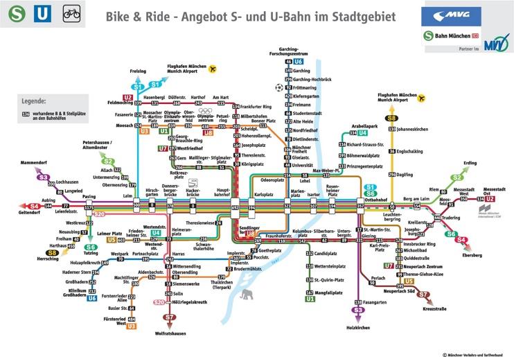 Munich bike and ride map