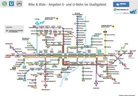 Munich bike and ride map