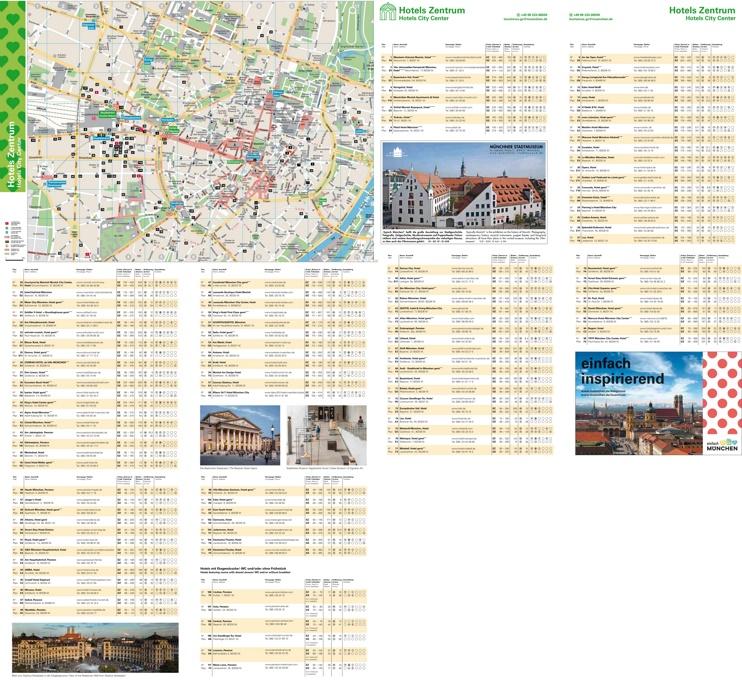 Munich city center hotel map