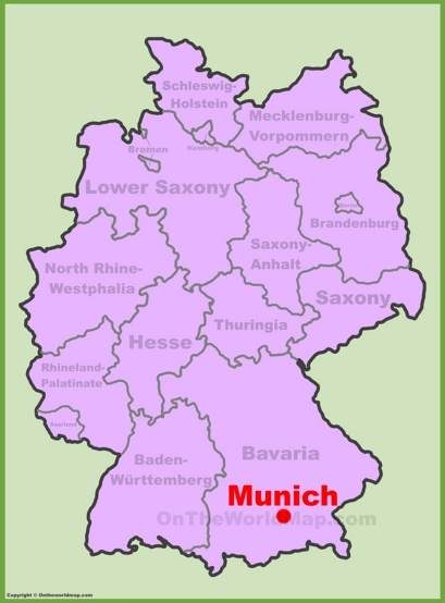 Munich Location Map