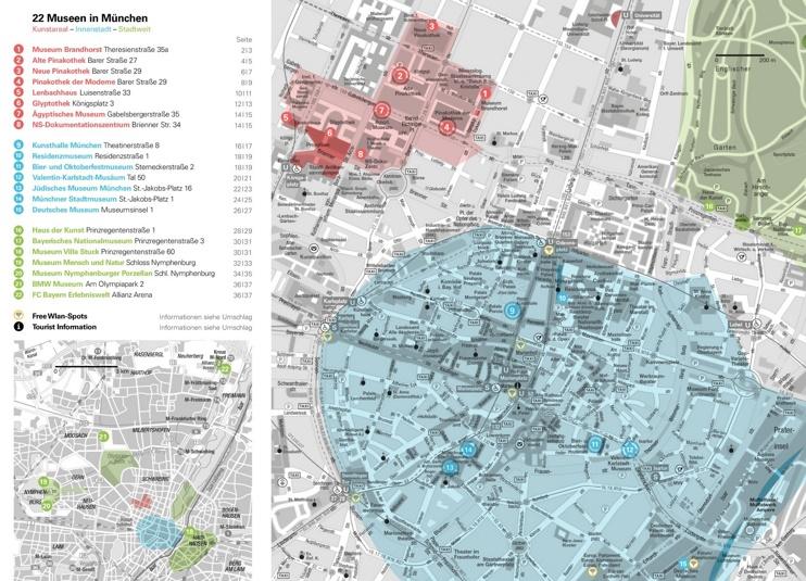 Munich museum map