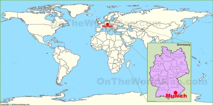 Munich on the World Map