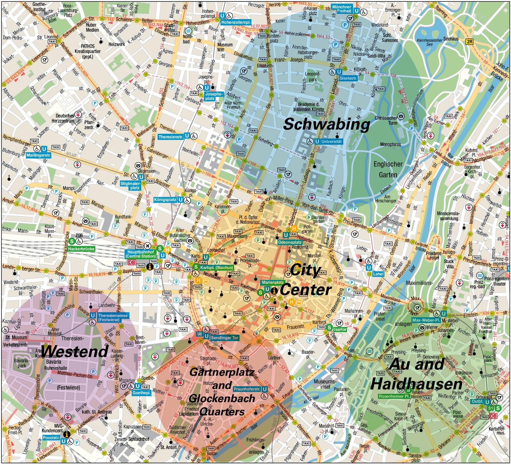 Munich Quarters Map - Paris map quarters