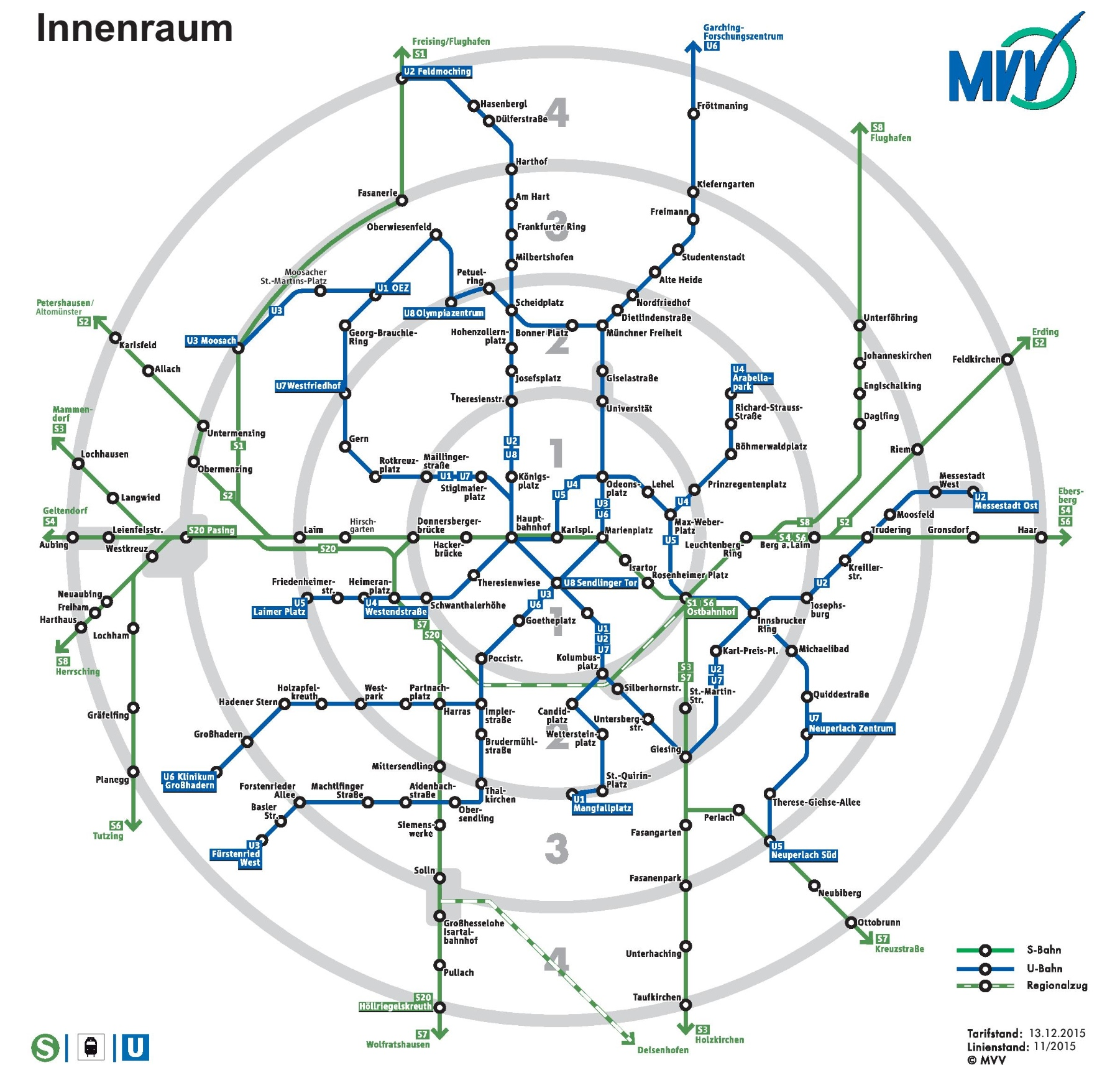 Munich rail map