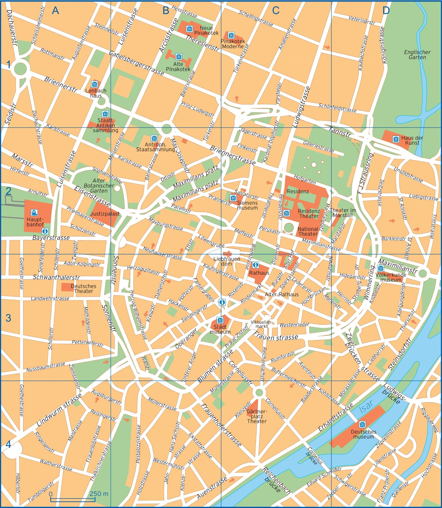 Munich street map