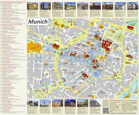 Munich Tourist Attractions Map