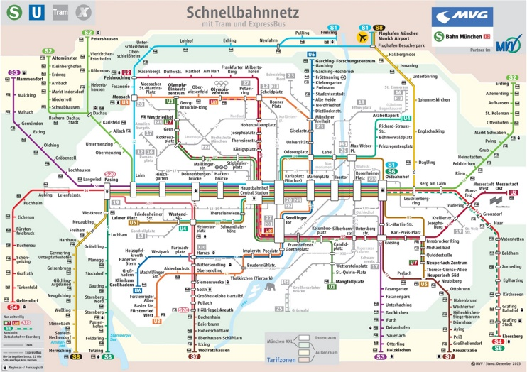 Munich train map