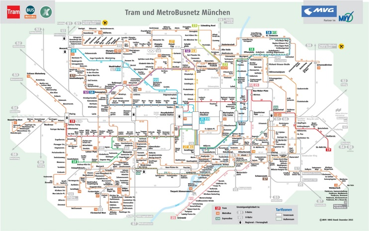 munich tram and bus map. Black Bedroom Furniture Sets. Home Design Ideas