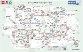 Munich tram and bus map