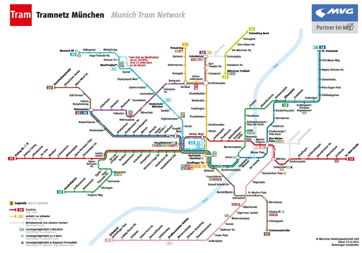 Munich tram map