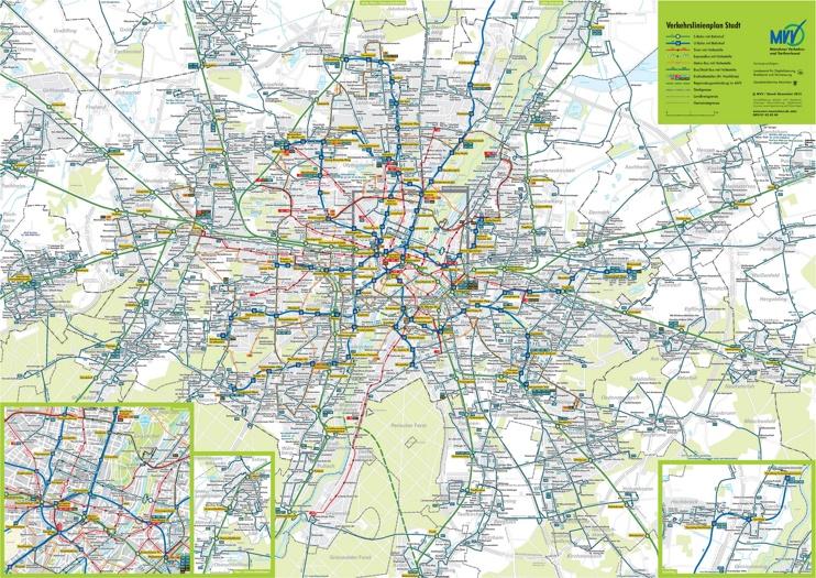 Munich transport map