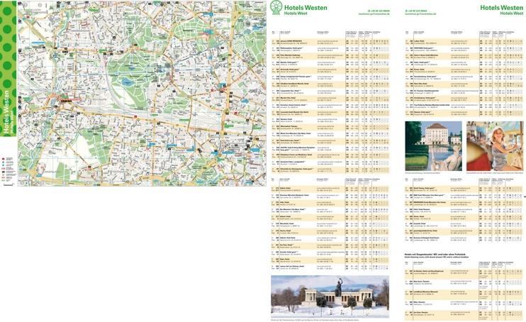 West Munich hotel map