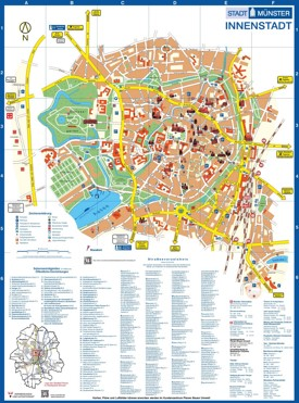 Münster city center map