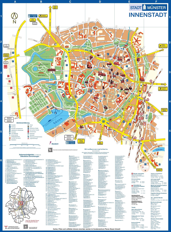Mnster city center map