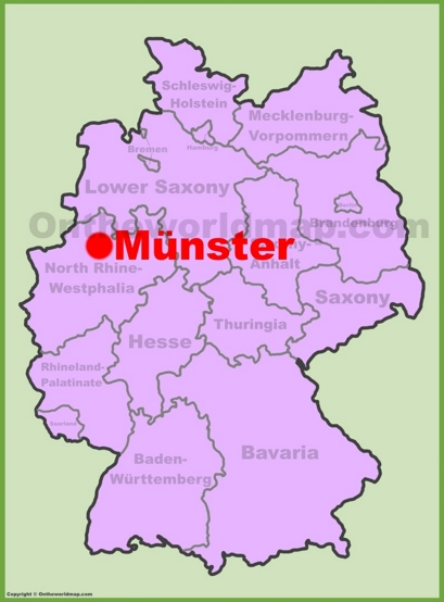 Münster Location Map