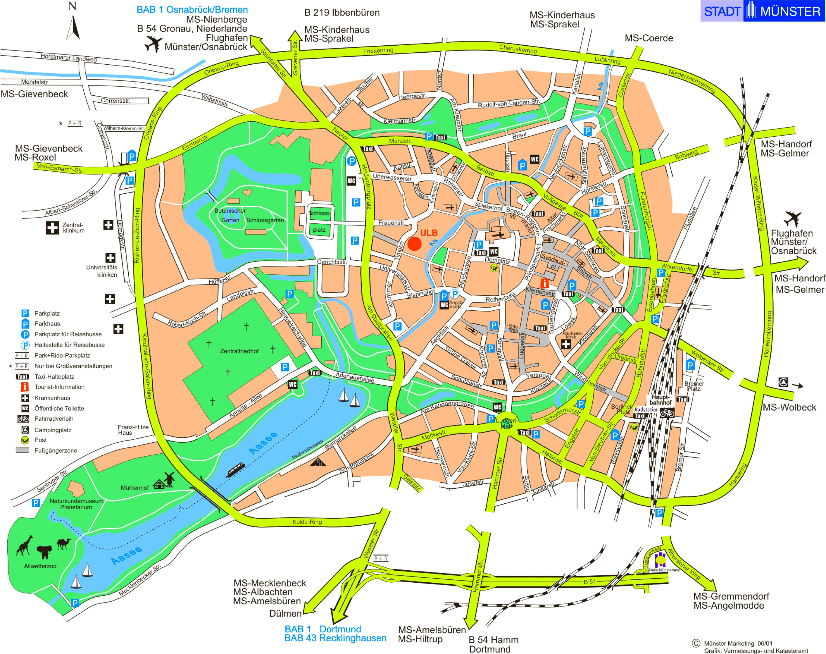 Münster Tourist Map - Germany map munster