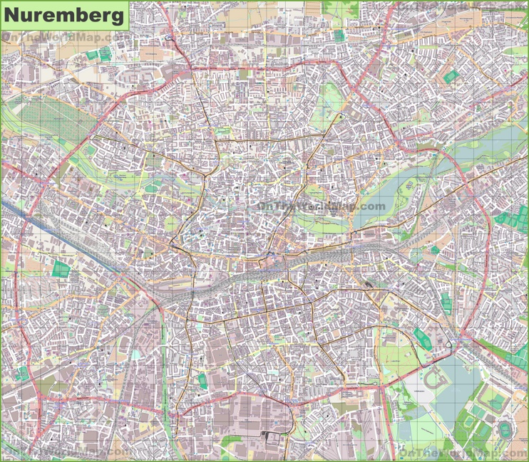 Nrnberg Maps Germany Maps of Nrnberg Nuremberg