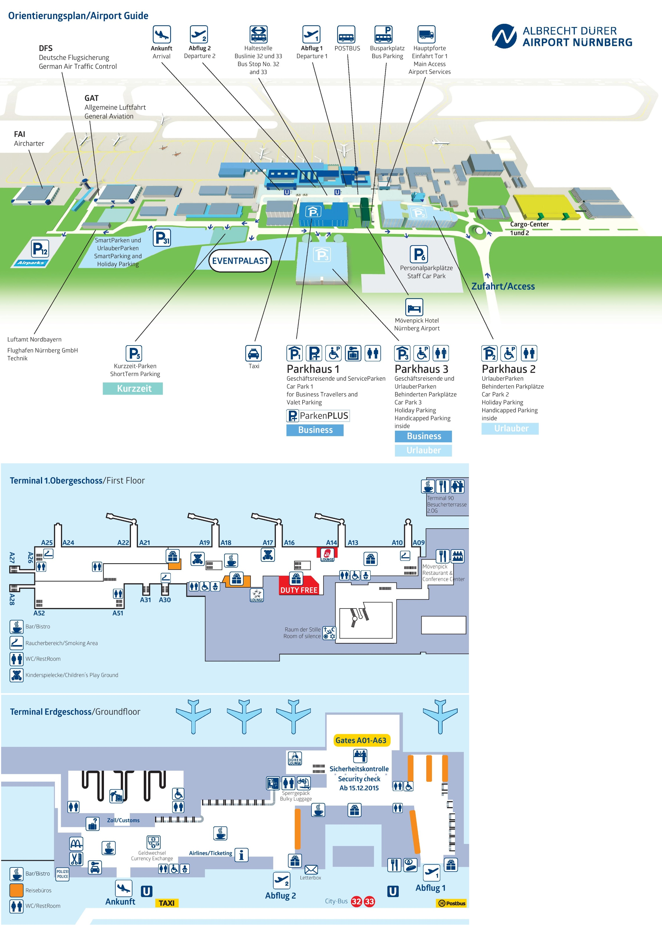 Nürnberg airport map