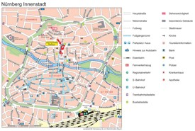 Nürnberg city center map