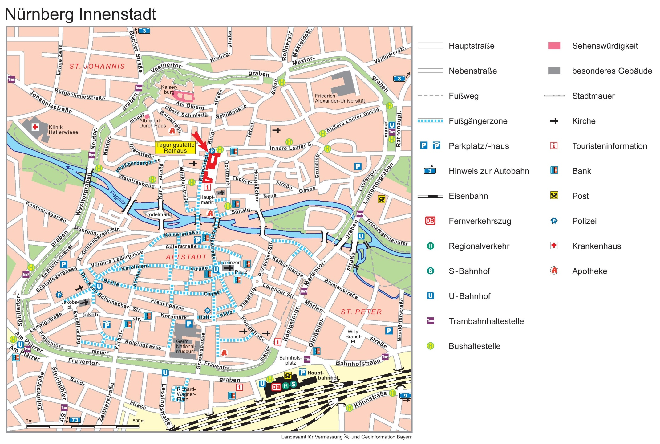 Nrnberg city center map