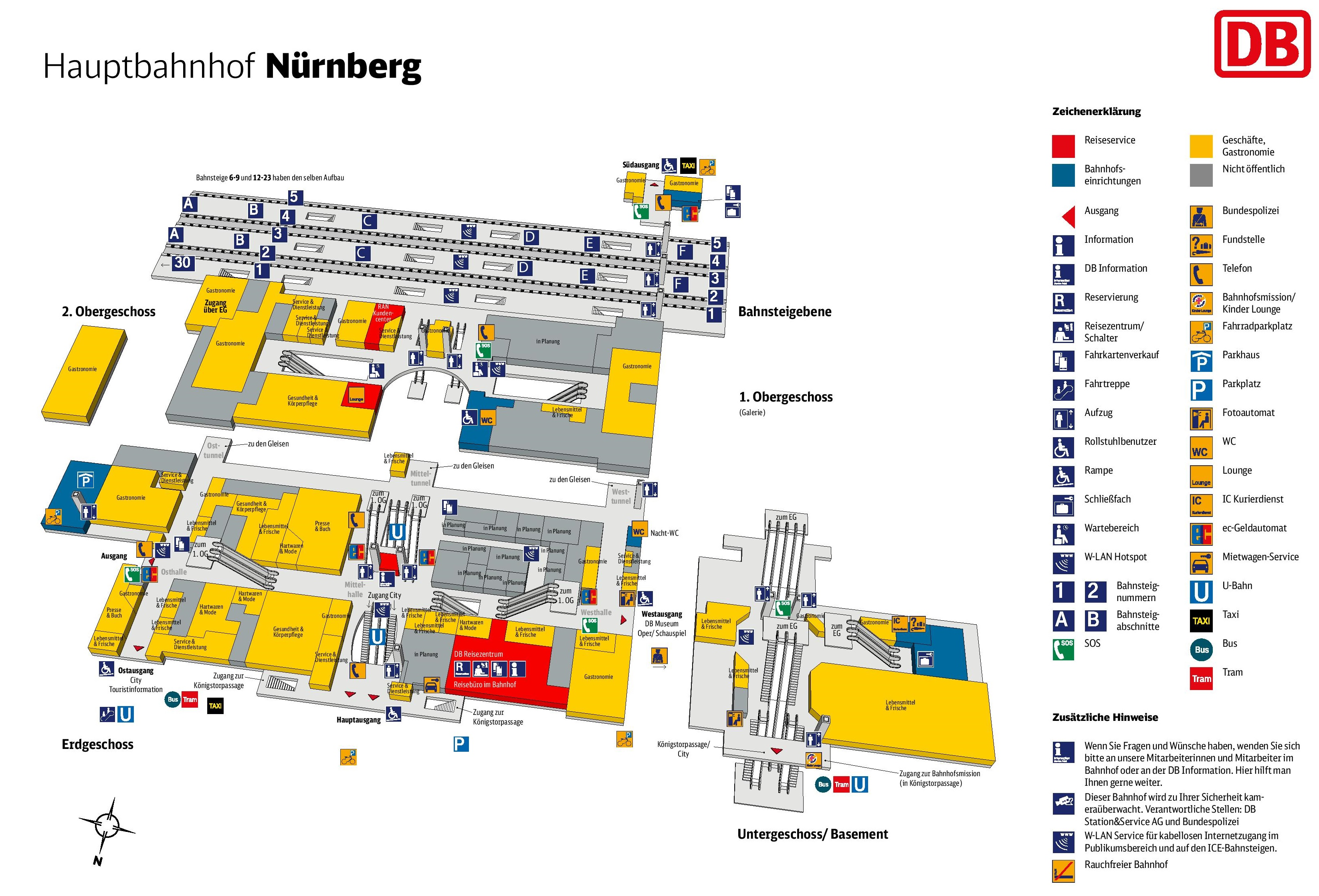 Nrnberg hauptbahnhof map central train station