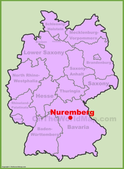 Nürnberg Location Map