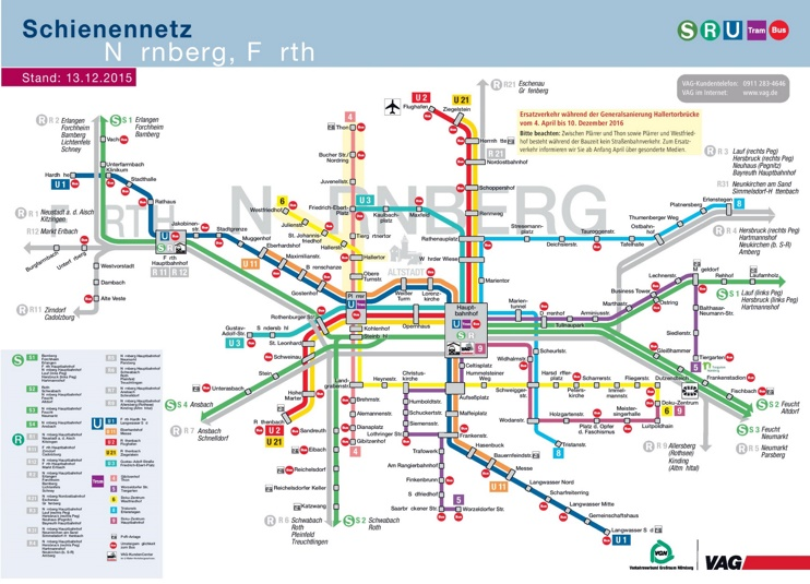 n rnberg metro tram and bus map. Black Bedroom Furniture Sets. Home Design Ideas
