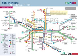 Nürnberg metro, tram and bus map