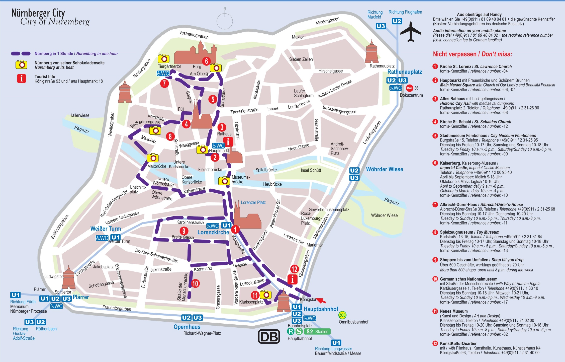 N rnberg tourist attractions map – Nuremberg Tourist Map