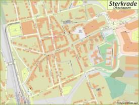 Map of Sterkrade