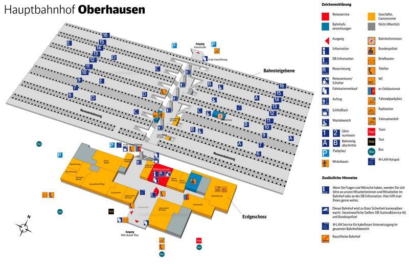 Oberhausen Hauptbahnhof Map