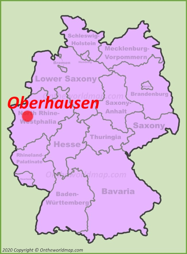 Oberhausen location on the Germany map