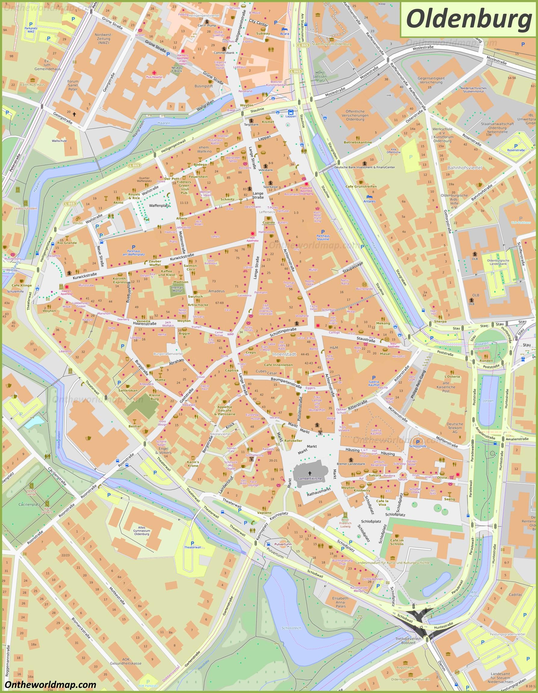 Map of Oldenburg